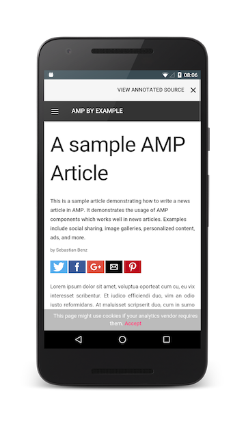 AMP - Accelerated Mobile Pages by google